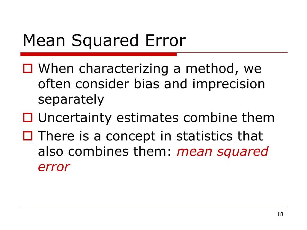 Mean Squared Error
