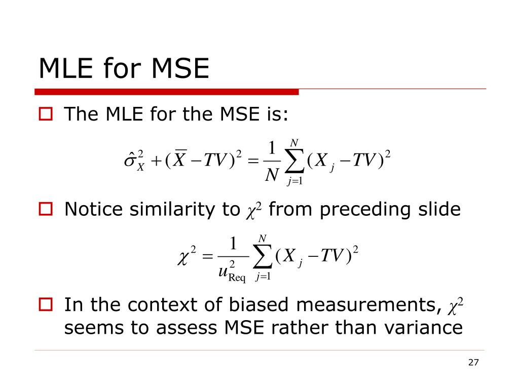 MLE for MSE