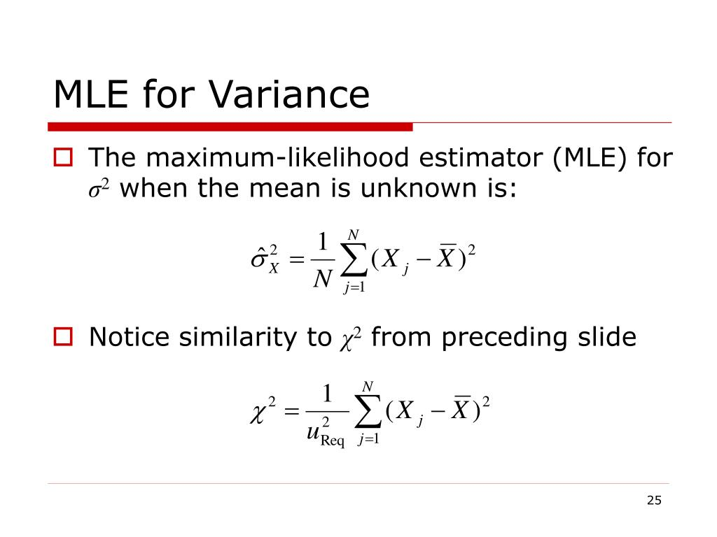 MLE for Variance