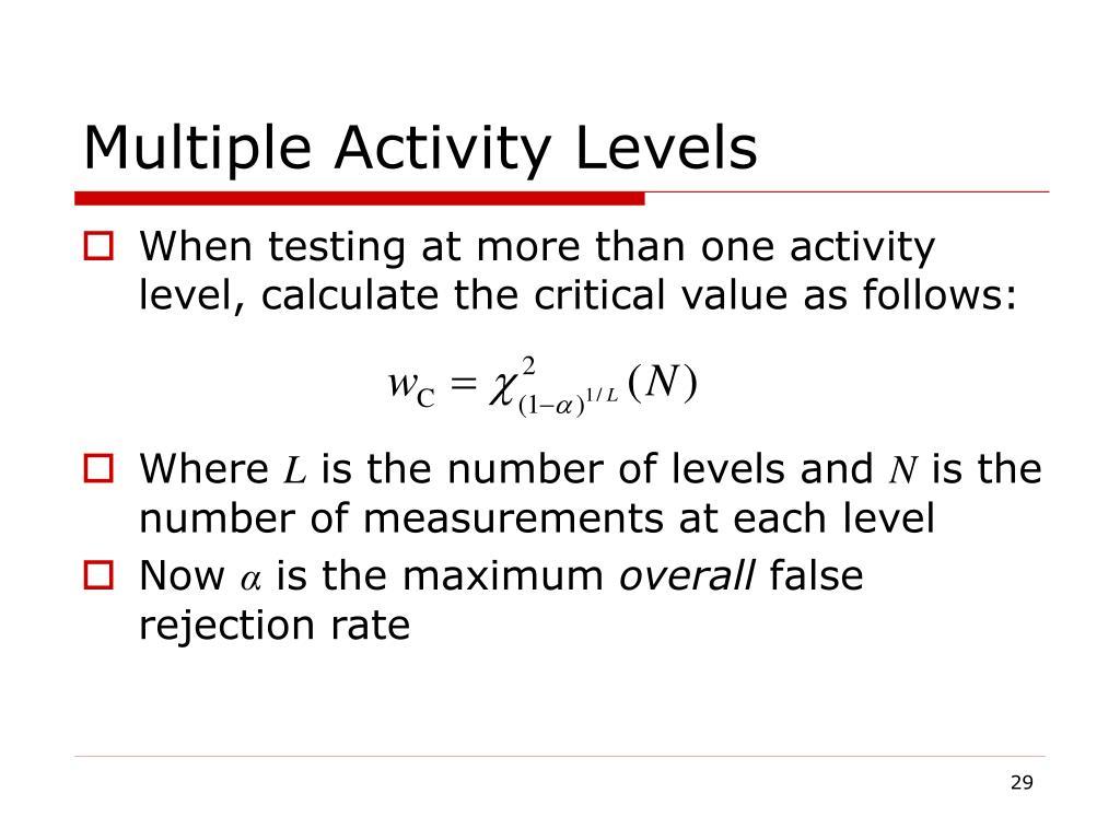 Multiple Activity Levels
