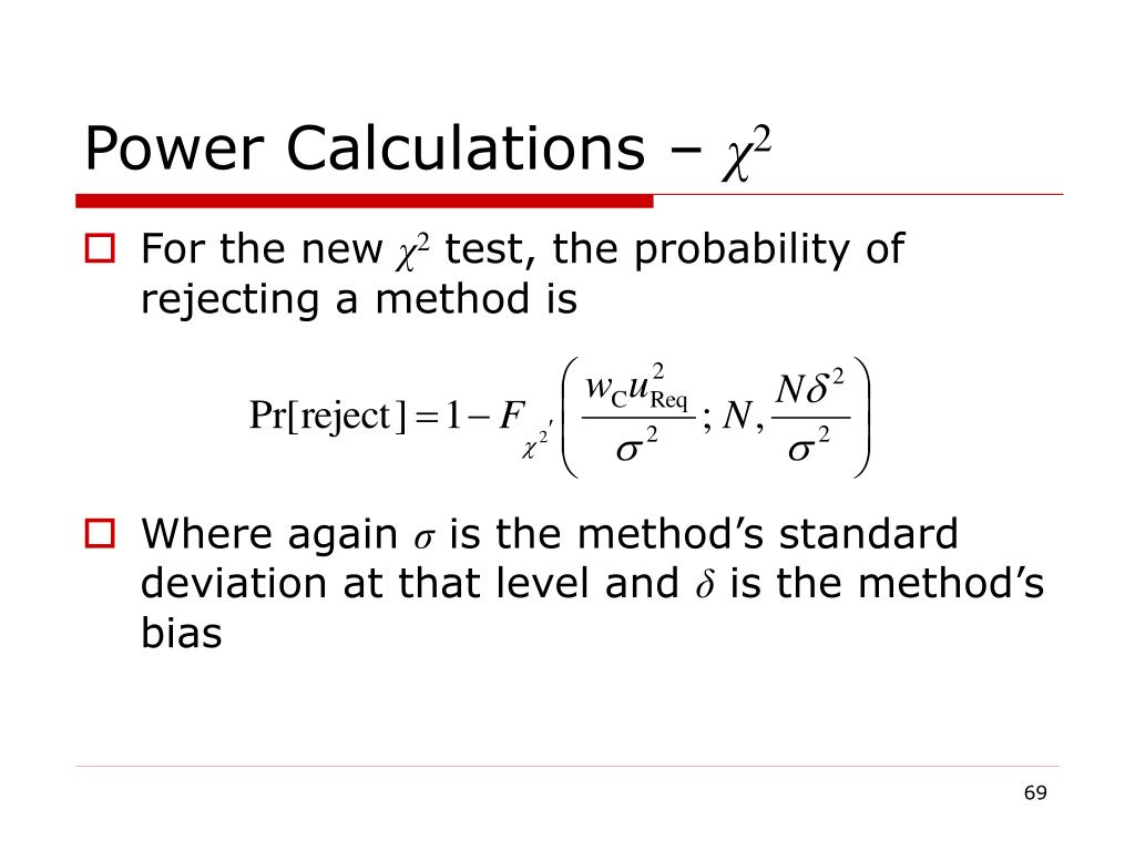 Power Calculations –