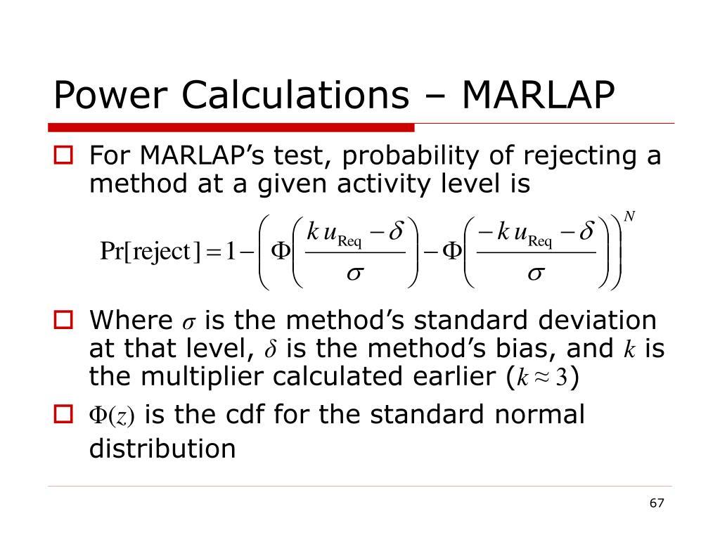 Power Calculations – MARLAP