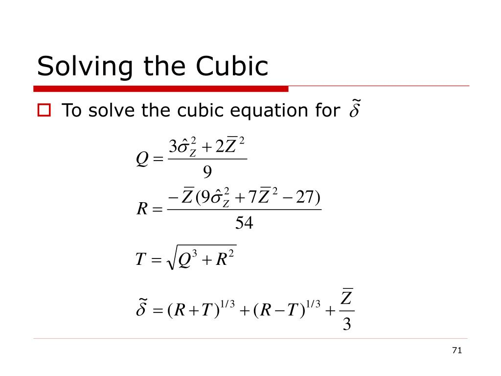 Solving the Cubic