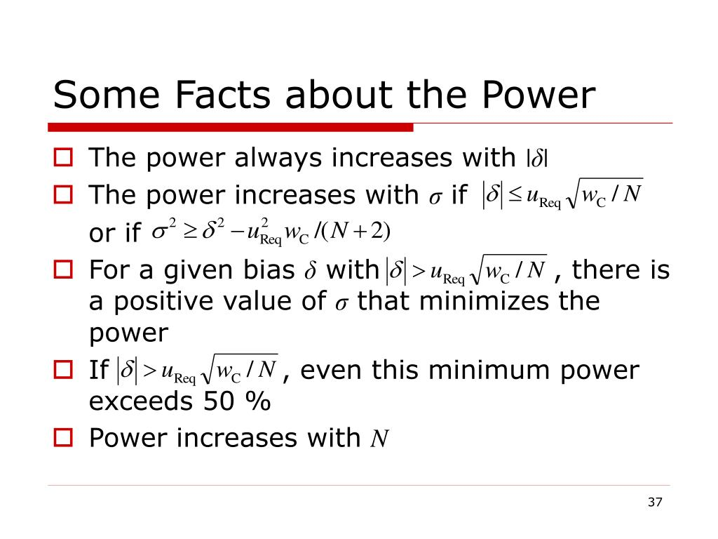 Some Facts about the Power
