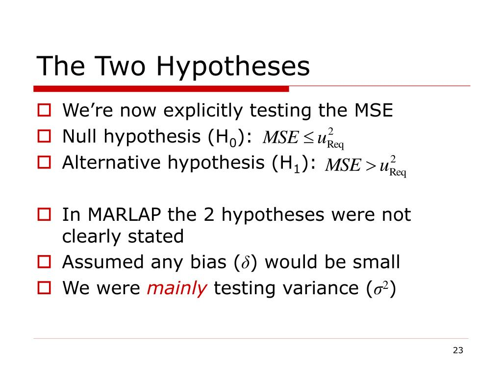 The Two Hypotheses