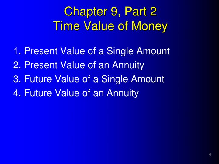 chapter 9 part 2 time value of money n.