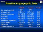baseline angiographic data