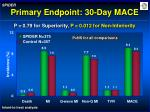 primary endpoint 30 day mace