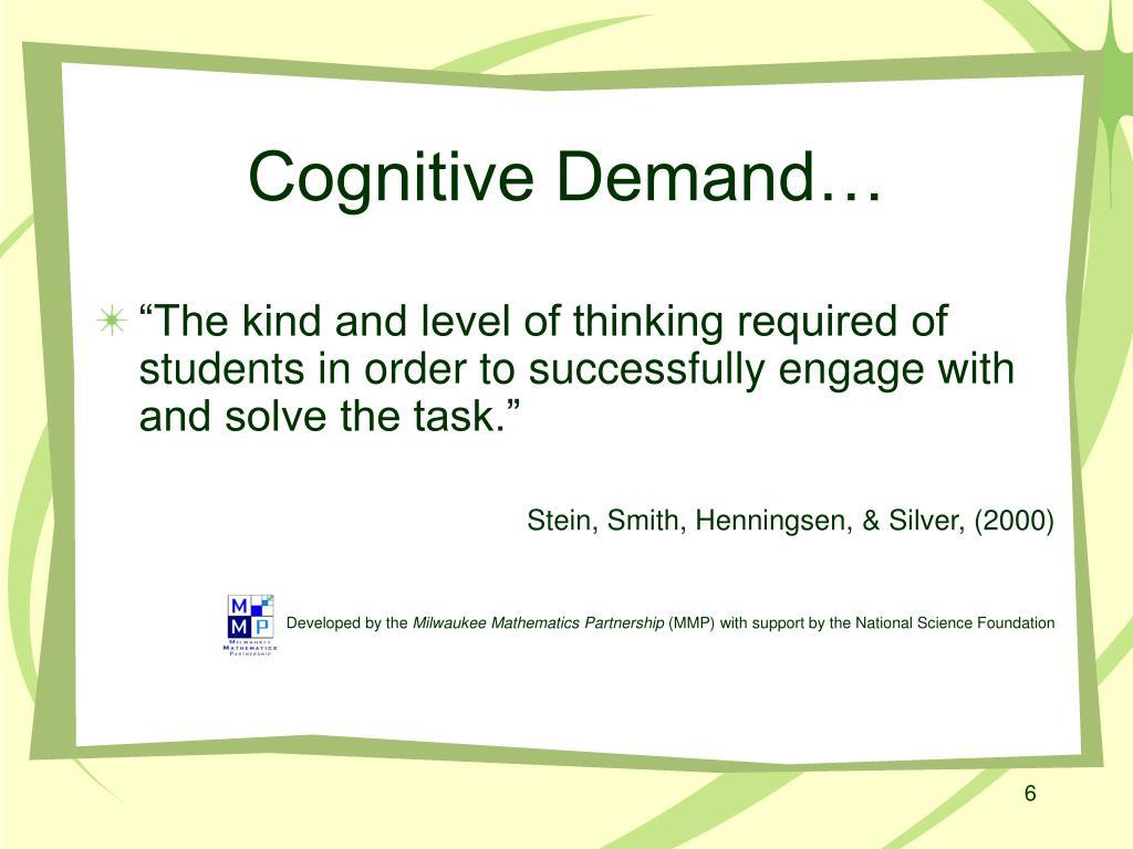 Cognitive Demand…