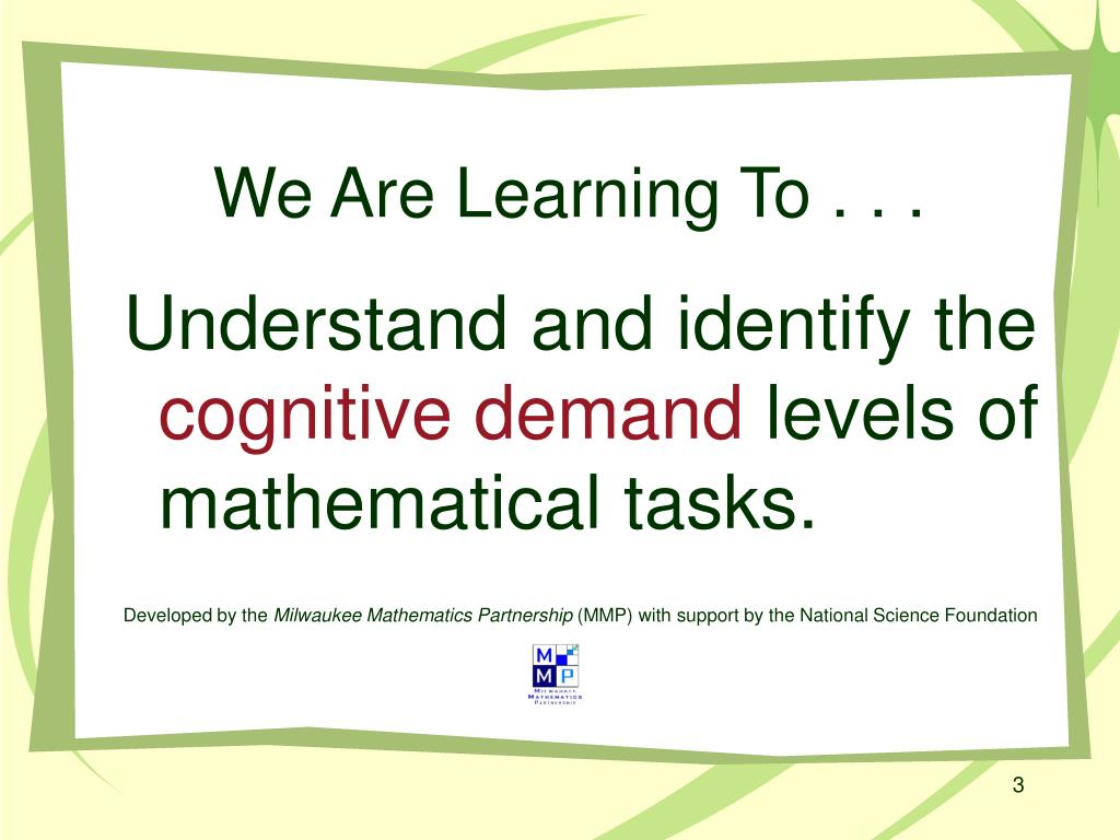 We Are Learning To . . .