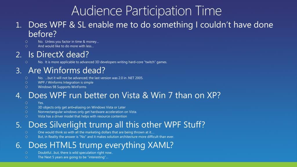 Audience Participation Time