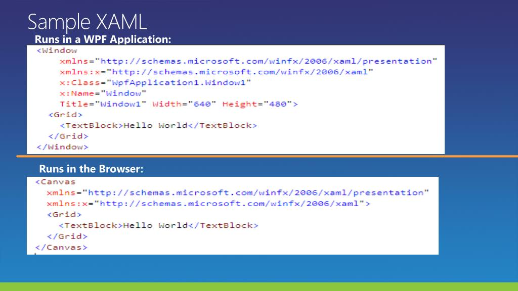 Sample XAML