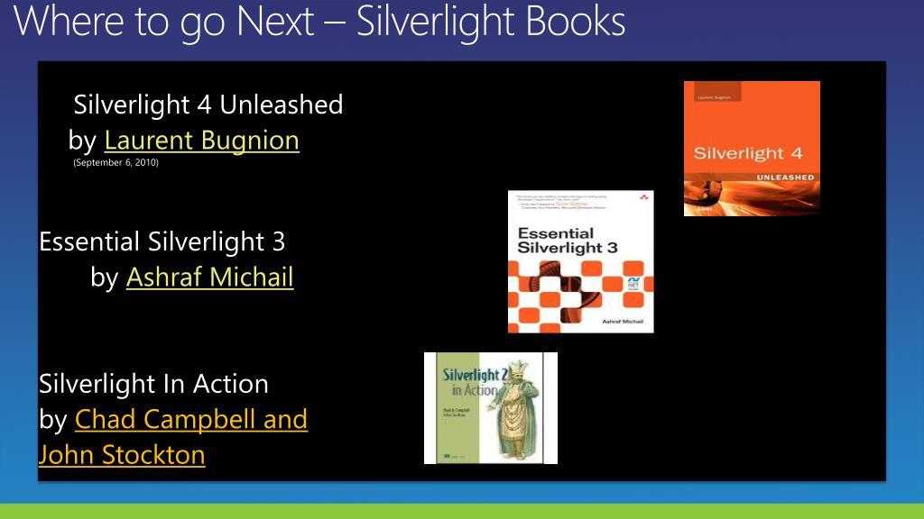 Where to go Next – Silverlight Books