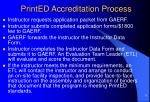 printed accreditation process