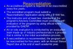 reaccreditation