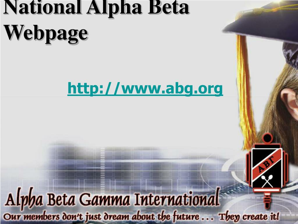 National Alpha Beta Webpage