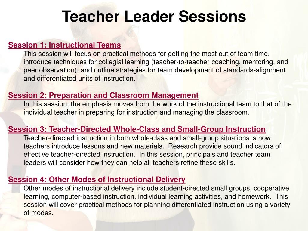Teacher Leader Sessions