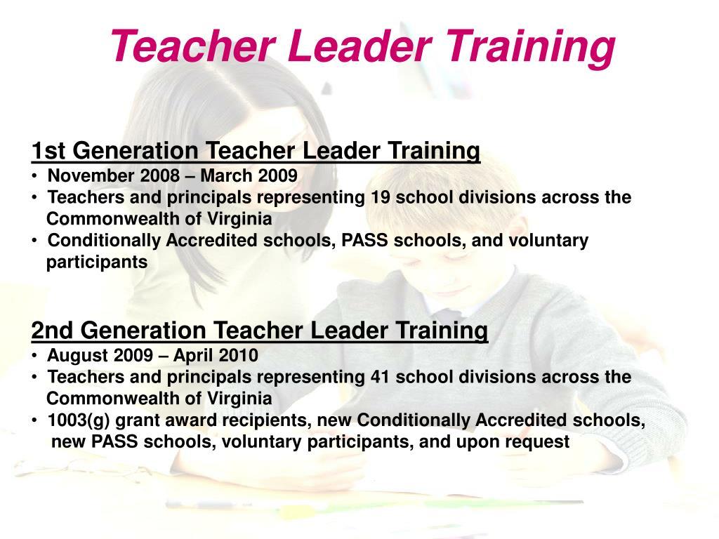 Teacher Leader Training