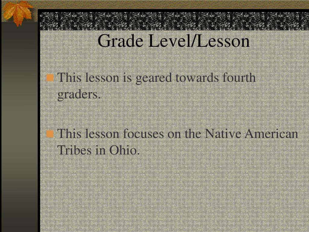 Grade Level/Lesson