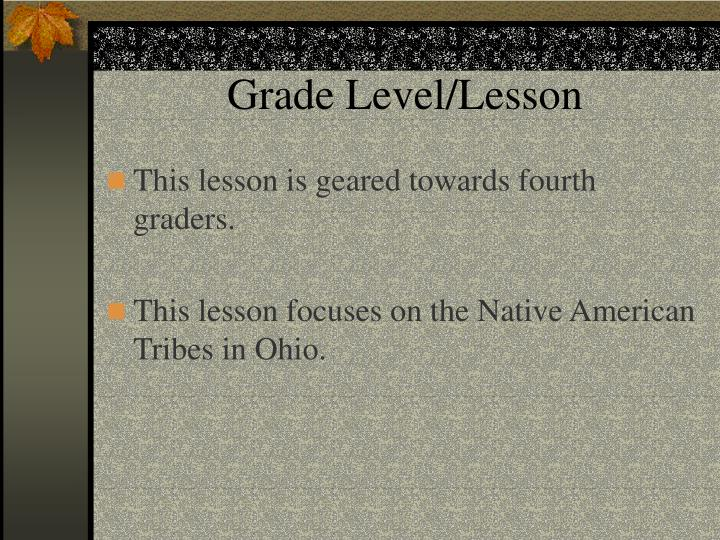 Grade level lesson