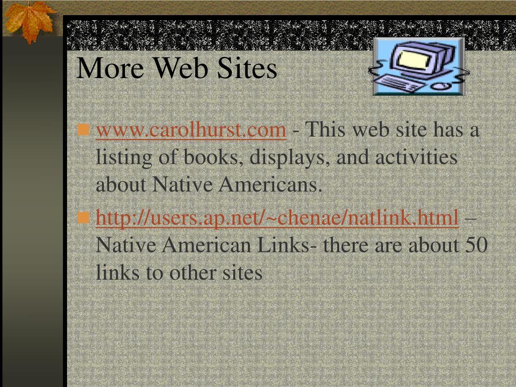 More Web Sites