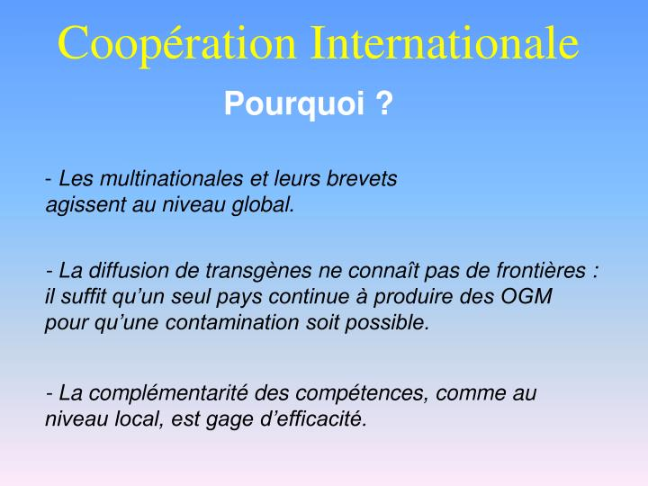 Coop ration internationale