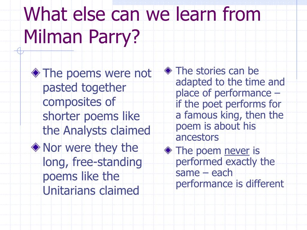 The poems were not pasted together composites of shorter poems like the Analysts claimed