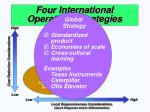 four international operations strategies37