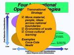 four international operations strategies41