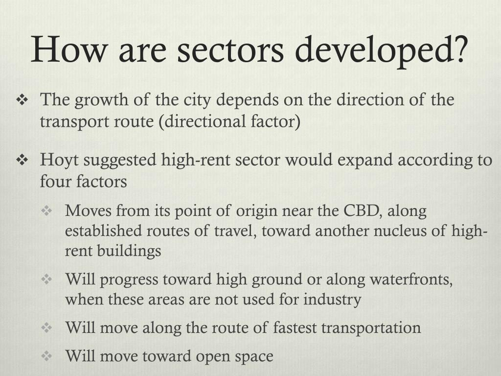 How are sectors developed?