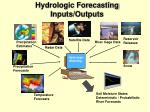 hydrologic forecasting inputs outputs