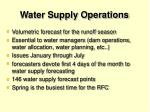 water supply operations