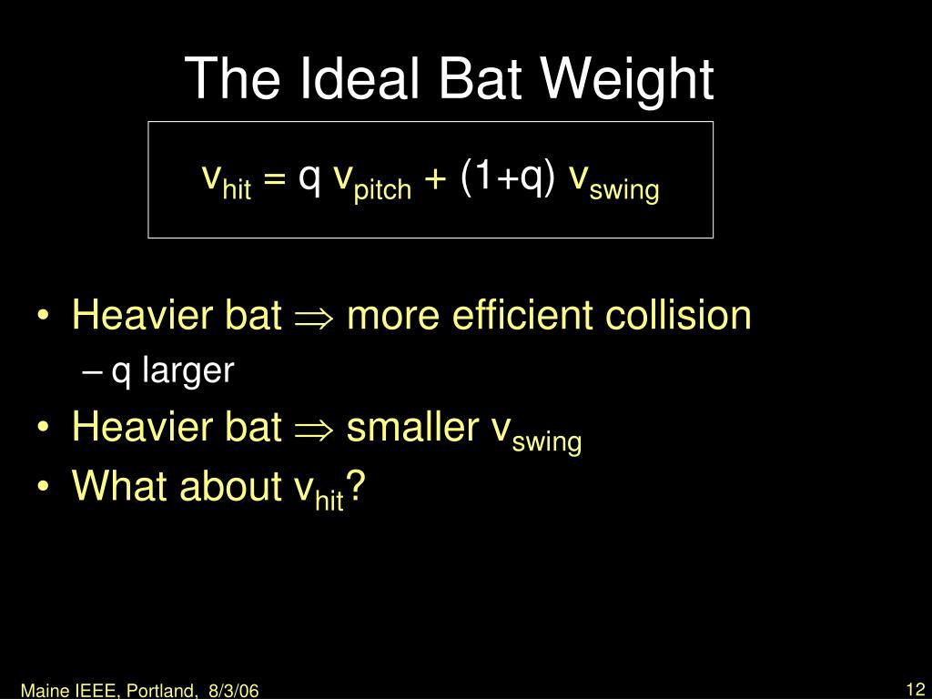 The Ideal Bat Weight