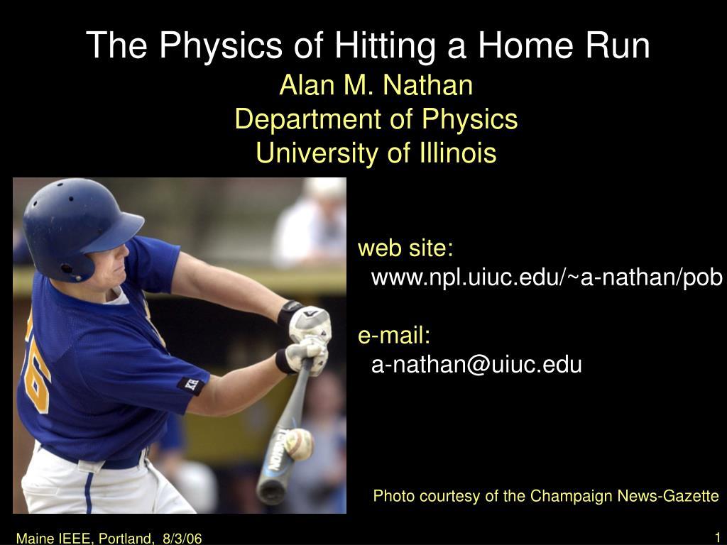 The Physics of Hitting a Home Run