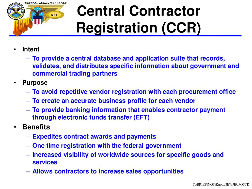 Central Contractor Registration (CCR)