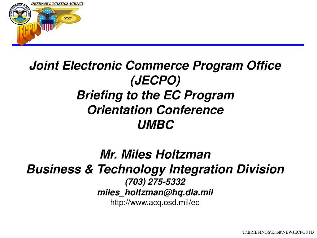 Joint Electronic Commerce Program Office (JECPO)
