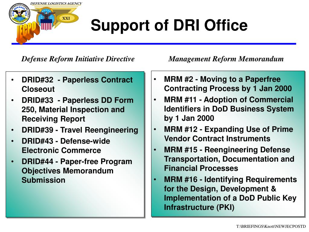 DRID#32  - Paperless Contract Closeout