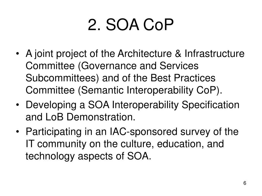 2. SOA CoP