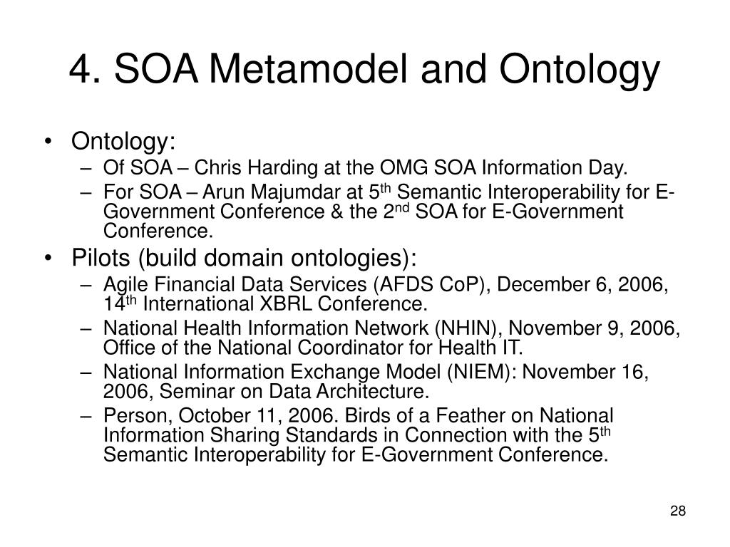 4. SOA Metamodel and Ontology