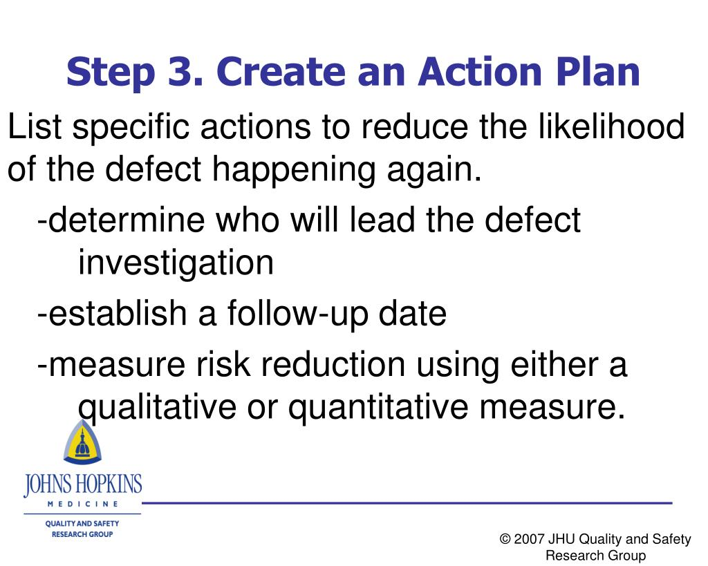 Step 3. Create an Action Plan