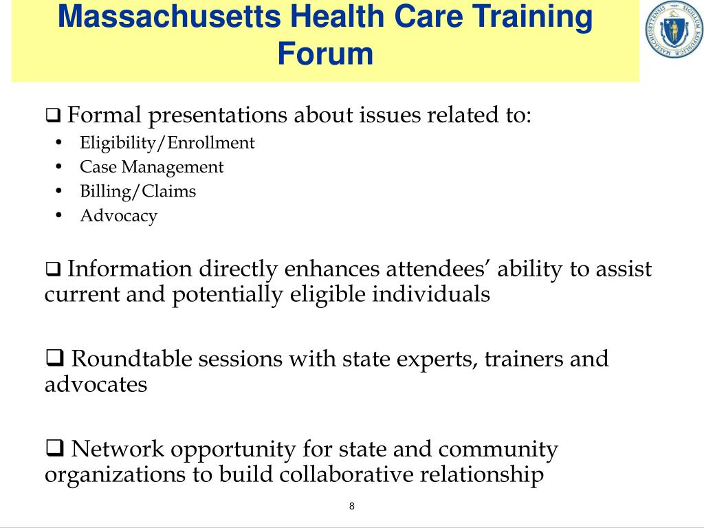 Massachusetts Health Care Training Forum