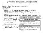 pertest c program listing cont