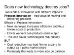 does new technology destroy jobs