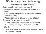 effects of improved technology if labour augmenting