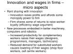 innovation and wages in firms micro aspects