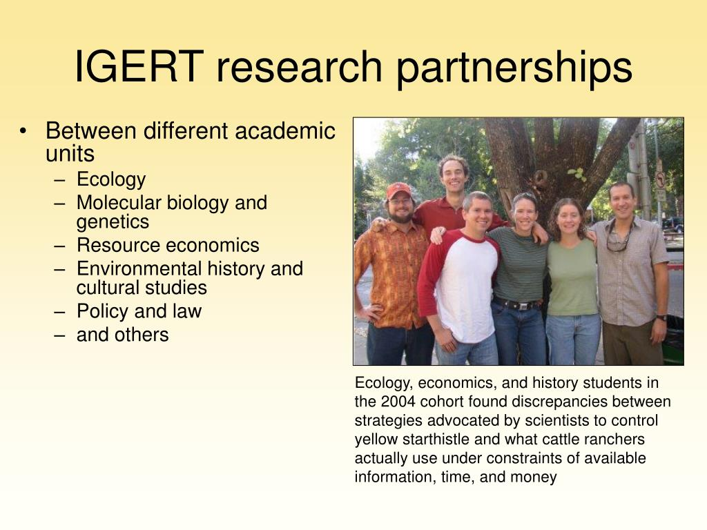 IGERT research partnerships