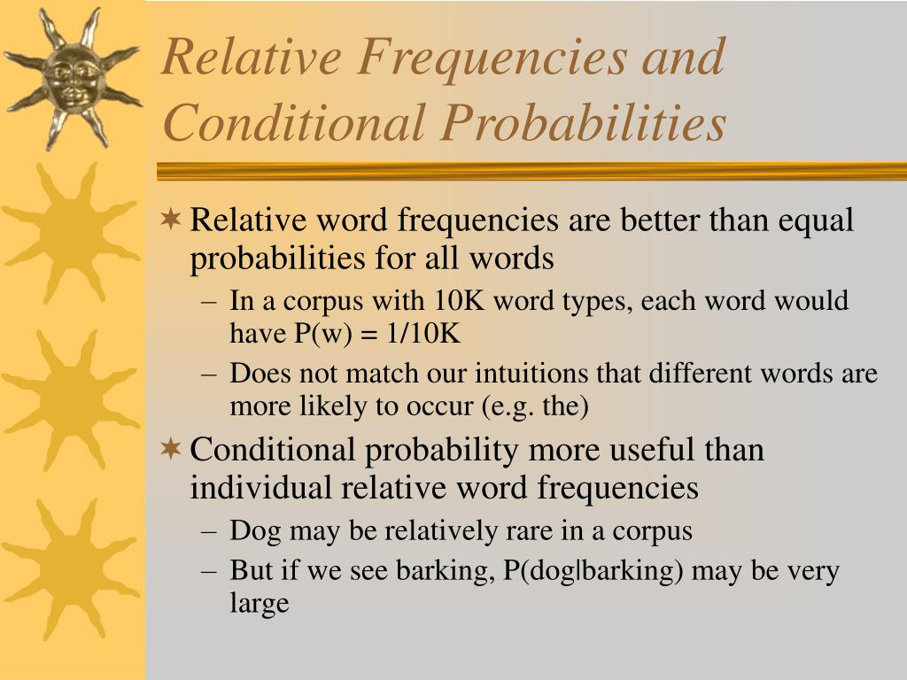 Relative Frequencies and Conditional Probabilities
