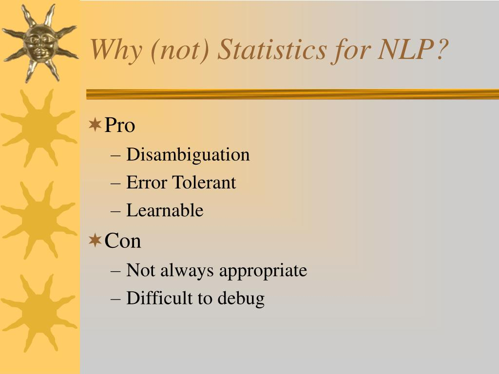 Why (not) Statistics for NLP?