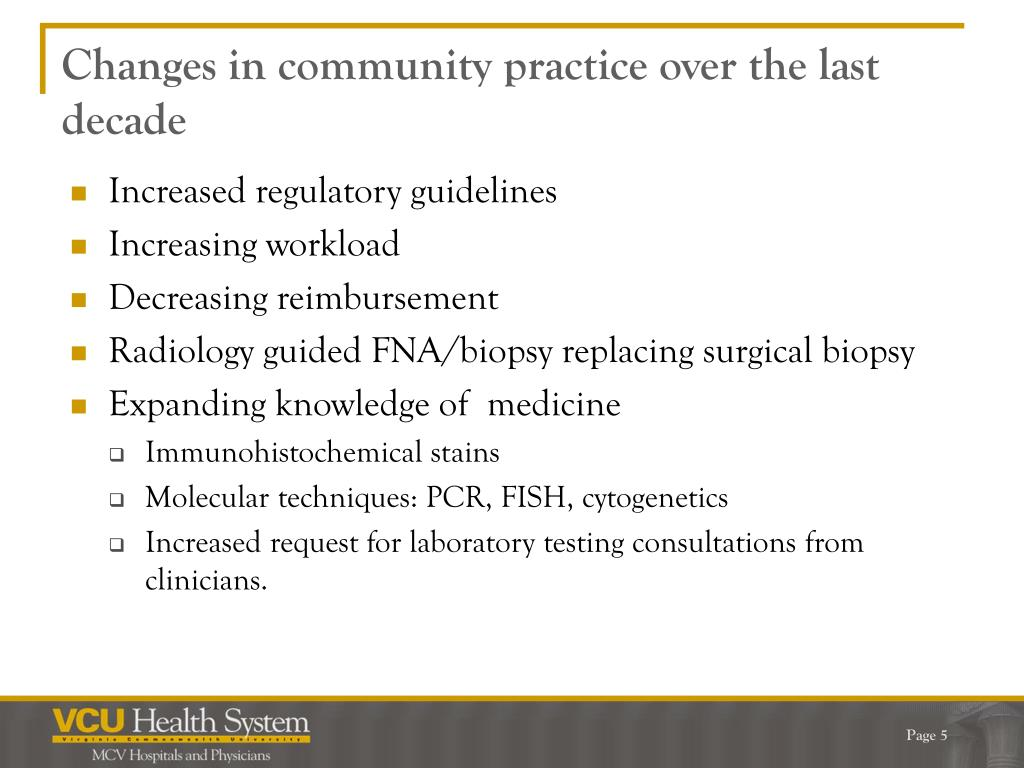 Changes in community practice over the last decade