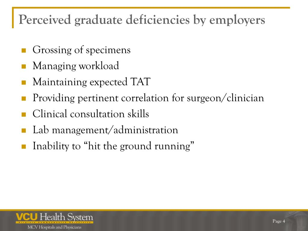 Perceived graduate deficiencies by employers